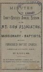 Mt. Zion Association of Missionary Baptists