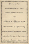 Blue Mountain Association of Missionary Baptists by Blue Mountain Association