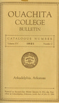 Ouachita College Bulletin 1921-1922