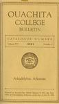 Ouachita College Bulletin 1921-1922 by Ouachita College