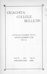 Ouachita College Bulletin 1915-1916