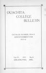 Ouachita College Bulletin 1915-1916 by Ouachita College