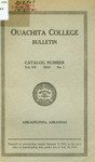 Ouachita College Bulletin 1918-1919