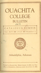 Ouachita College Bulletin 1919-1920