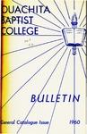 Ouachita Baptist College Bulletin General Catalogue Issue 1960-1961
