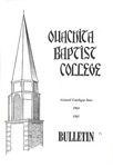 Ouachita Baptist College Bulletin General Catalogue Issue 1964-1965