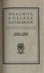 Ouachita College Catalogue 1908-1909