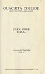 Ouachita College Catalogue 1933-1934