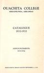 Ouachita College Catalogue 1932-1933
