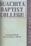 Ouachita Baptist College Catalogue 1951-1952
