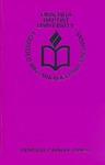 Ouachita Baptist University General Catalog 1990-1991 by Ouachita Baptist University