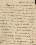 "15: 1811 November 20: William Dunbar ""Son"" (Princeton) to Mrs. William Dunbar (Natchez)"