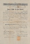 39: Marriage certificate, 1869: Alfred Davis and Mary Dunbar by State of Louisiana