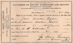 40: Marriage record, 1919: James M. Ogden and Marian Dunbar Davis by Parish of Orleans