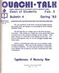 February 5, 1982 by Office of Student Services