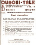 February 12, 1982 by Office of Student Services