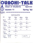 April 30, 1982 by Office of Student Services