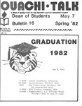 May 7, 1982 by Office of Student Services