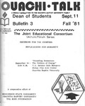 September 11, 1981 by Office of Student Services