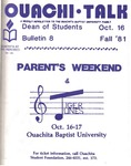 October 16, 1981 by Office of Student Services