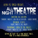 2019 All Night Theatre by Theatre Department and Alpha Psi Omega