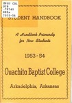 The Student Handbook 1953-1954 by Ouachita Baptist College